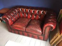 Red Chesterfield Sofa For Sale by Oxblood Chesterfield Sofa Second Hand Household Furniture Buy