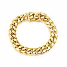 cuban chain bracelet images Gold miami cuban chain bracelet spicyice jpg