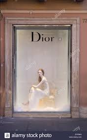manikin in window dior store via condotti rome shopping fashion