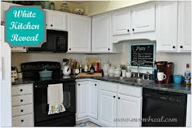 kitchen ideas with white cabinets and black appliances stunning white kitchen cabinets black appliances 43