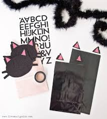 black and pink cat halloween bags five marigolds