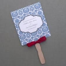 paddle fan program template wedding paddle fan program with blue rococo design program