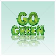 design logo go green go green lettering design vector image 1999532 stockunlimited