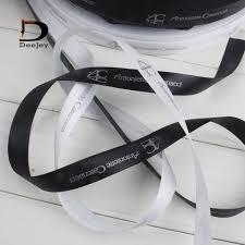 customized ribbon aliexpress buy custom brand printed ribbon logo pack