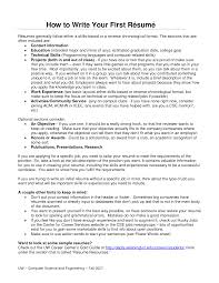 Making Resume For First Job by How To Make A Resume For Your First Job Free Resume Example And