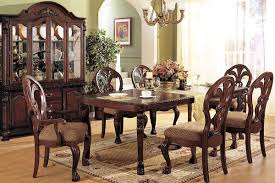 classic dining room design turned front legs chairs mix match oval