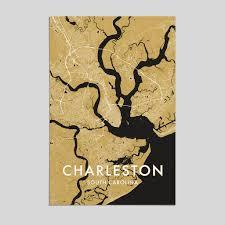 charleston south carolina city map print style 3 artefact maps