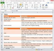Home Maintenance Spreadsheet by Free Home Maintenance Schedule And Task List Template For Excel