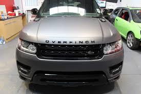 matte gray range rover range rover sport overfinch matte dark grey vinyl wrap tlc