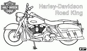 harley davidson road king harley motorcycle coloring page paper