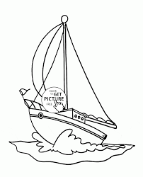 small sailing yacht coloring page for kids transportation