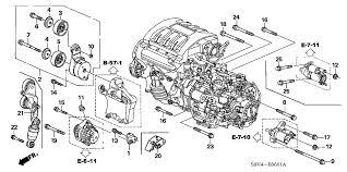 where is the starter on a 2006 honda civic honda pilot 5 door ex 4wd ka 5at alternator bracket