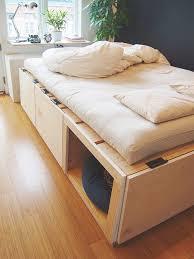 renovate our homestudio i a new storage bed built u0026 shiki futon