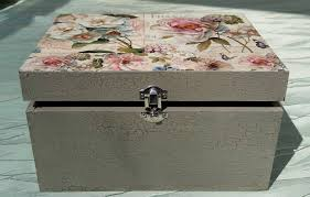 Decoupage Box Ideas - diy project shabby chic decoupage storage box