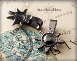 small sun and moon bails black gunmetal plated