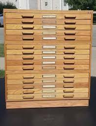 blueprint flat file cabinet 15 drawer stacor oak blueprint map artist drafting flat file storage