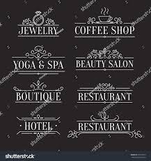 design outline logo template ornamental stock vector