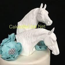 horse head wedding cake topper set of 2 ebay