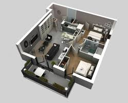 appartement avec 2 chambres idee plan3d appartement 2chambres 05