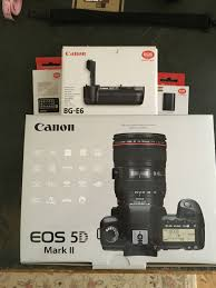 canon 5d mark ii bg e6 2x lp e6 batteries grid focus screen eg