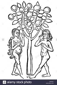 religion biblical scenes adam and eve woodcut