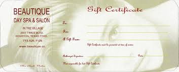 salon gift card beauty gift certificate template professional and high quality