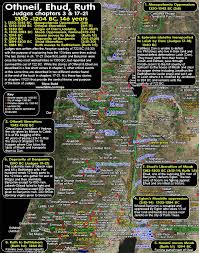 timeline maps timeline maps chronology sermons of othneil ehud ruth 1350