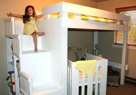 Plywood Bunk Bed Bunk Bed With Crib Underneath Toddler Loft Bed With Crib