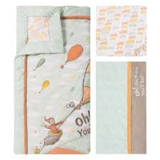 Dr Seuss Crib Bedding Sets Dr Seuss Oh The Places You Ll Go Unisex 5 Crib Bedding