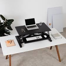 Stand Up Sit Down Desks by Cooper Standing Desk Converter For Flexible Use Fully