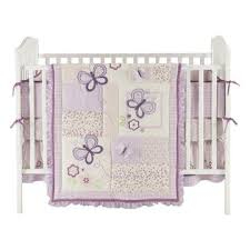 small wonders 4 piece butterfly dreams crib bedding set