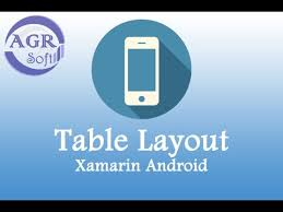 xamarin android table layout xamarin android 3 tablelayout youtube