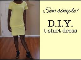 how to make a t shirt dress nik scott youtube