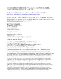 Example Resume by Sample Resume For Usajobs Resume For Your Job Application