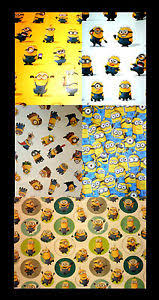 minion gift wrap 4m metre roll despicable me minion gift wrap wrapping paper ebay