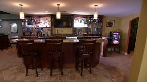 basement bar game room video hgtv