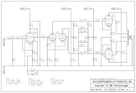 2x30w el34 tube amplifier kaizer power electronics monostage