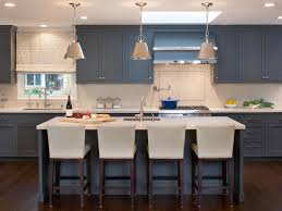 blue kitchen island and white cabinets kitchen island bar stools pictures ideas tips from hgtv