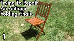 Antique Chair Repair Trying To Repair An Antique Folding Chair 1 Need Wood