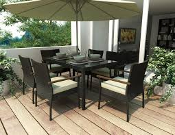 White Patio Dining Sets by Furniture Ideas Patio Dining Set With Umbrella And Cream Cushion