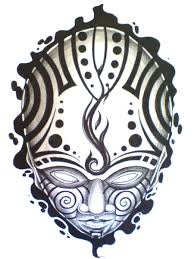 tattoo design head with ipu