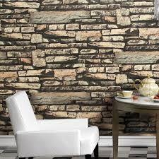 popular realistic wallpaper buy cheap realistic wallpaper lots haokhome modern faux brick wallpaper grey sand khaki textured realistic stone rolls living room