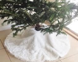 white tree skirt white fur christmas tree skirt beneconnoi