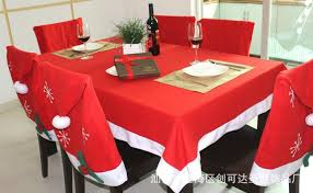 santa chair covers rectangle tablecloth table cover decoration santa claus