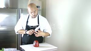 chef testing the knife in the kitchen timelapse royalty free