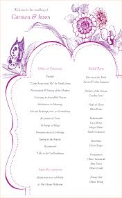 tri fold wedding program templates invitations one page wedding program template program template