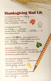 a free thanksgiving mad lib printable small stuff counts
