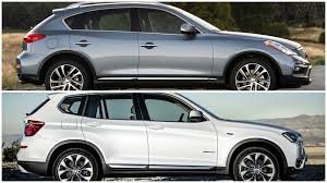 lexus nx200t vs bmw x1 2016 infiniti qx50 vs bmw x3 youtube
