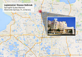 Florida Map Orlando by Legionnaires Outbreak At Marriott Hotel In Orlando Fl
