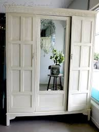 wardrobe in old white and country grey chalk paint project by